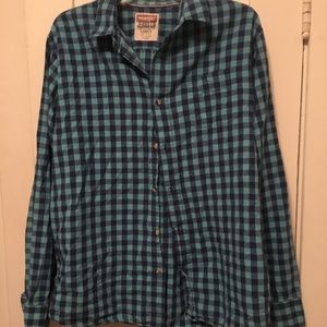 Blue flannel over shirt